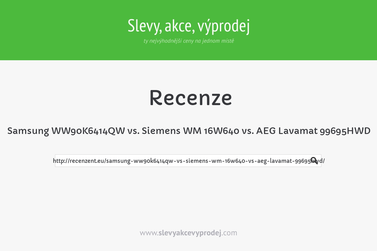Samsung WW90K6414QW vs. Siemens WM 16W640 vs. AEG Lavamat 99695HWD