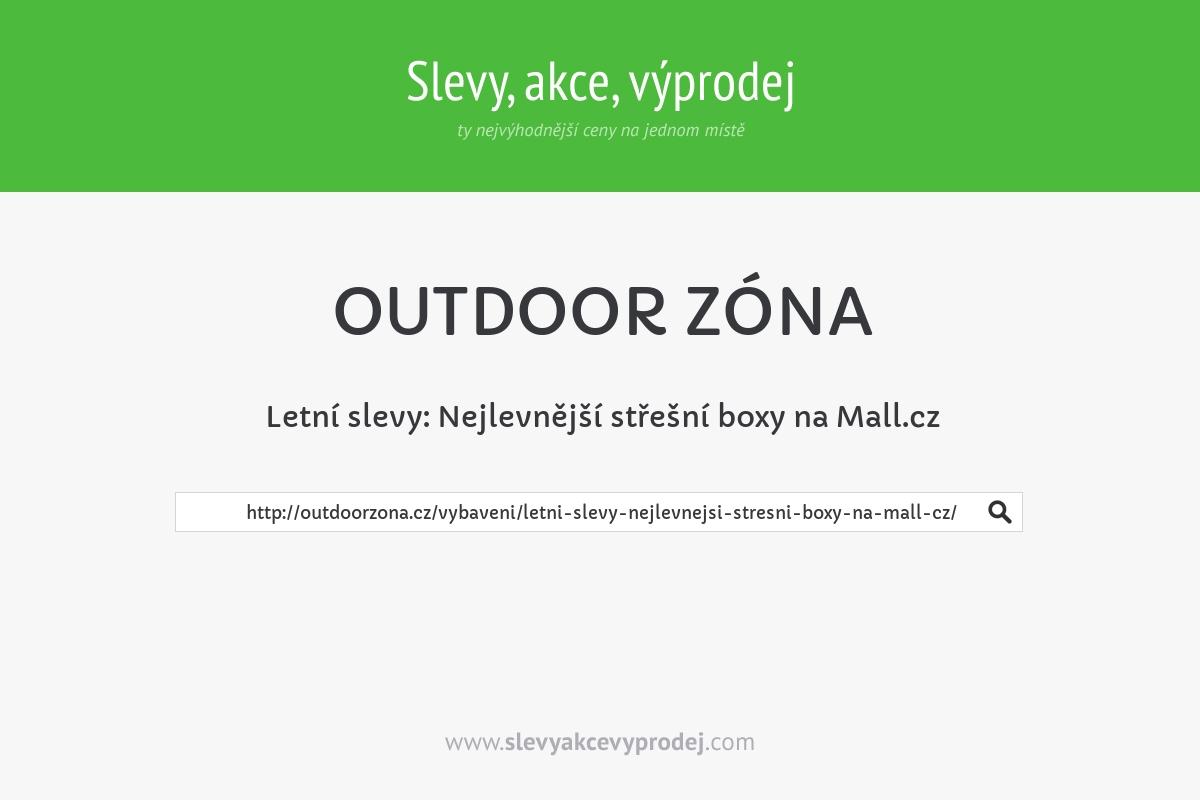 Letní slevy: Nejlevnější střešní boxy na Mall.cz