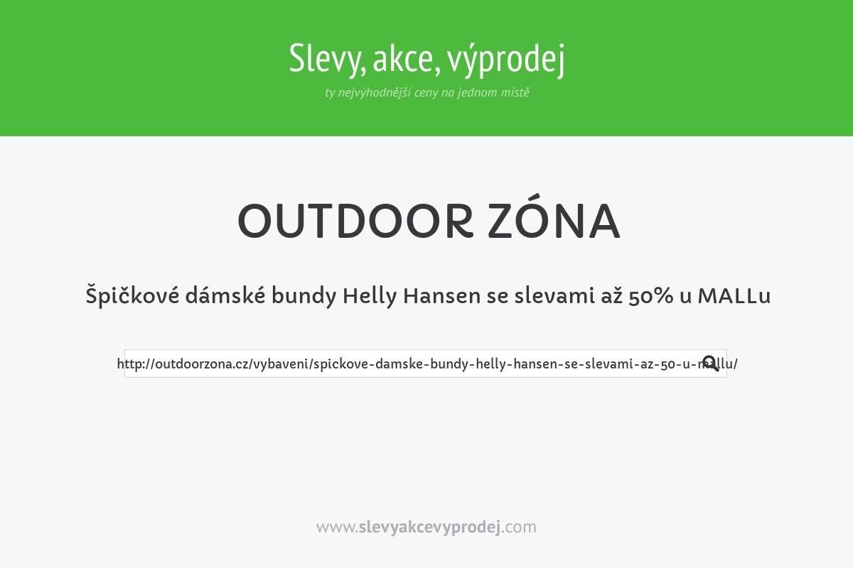 Špičkové dámské bundy Helly Hansen se slevami až 50% u MALLu