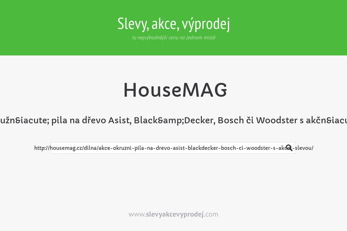 AKCE: Okružní pila na dřevo Asist, Black&Decker, Bosch či Woodster s akční slevou