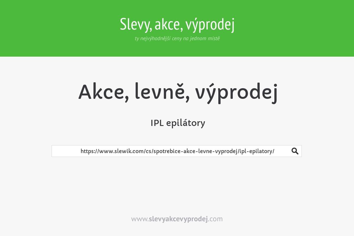 IPL epilátory
