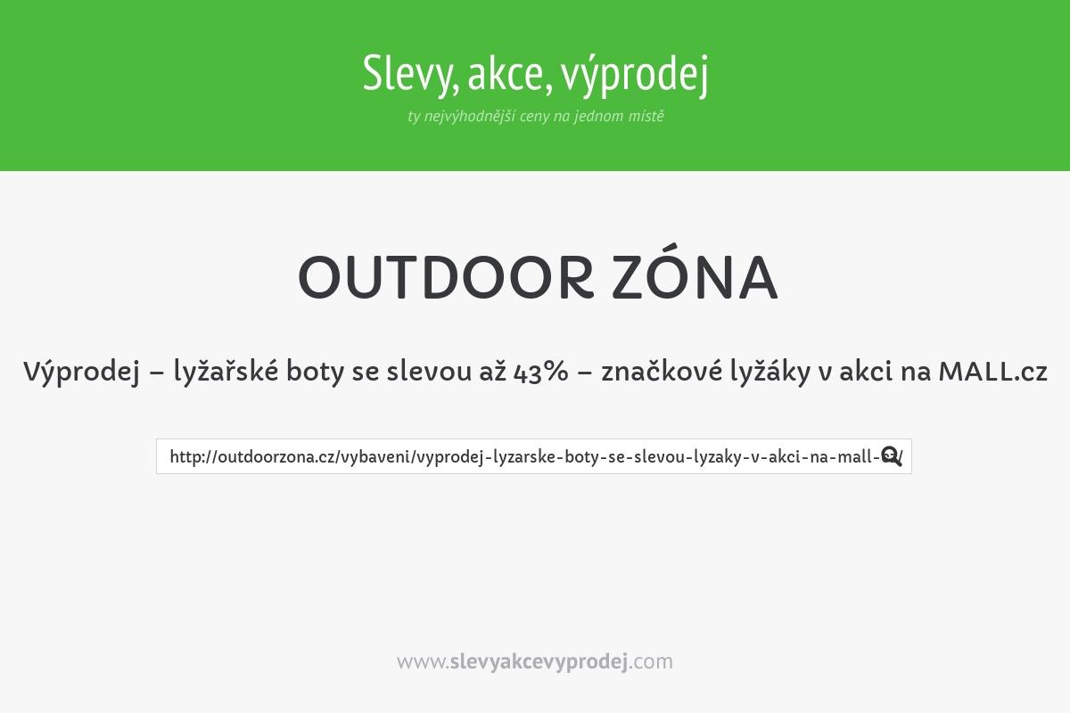 Výprodej – lyžařské boty se slevou až 43% – značkové lyžáky v akci na MALL.cz