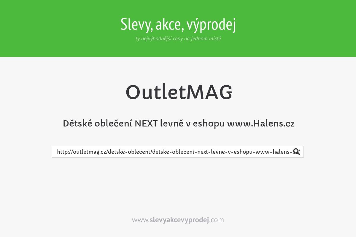 Dětské oblečení NEXT levně v eshopu www.Halens.cz