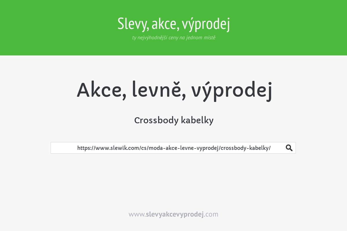 Crossbody kabelky