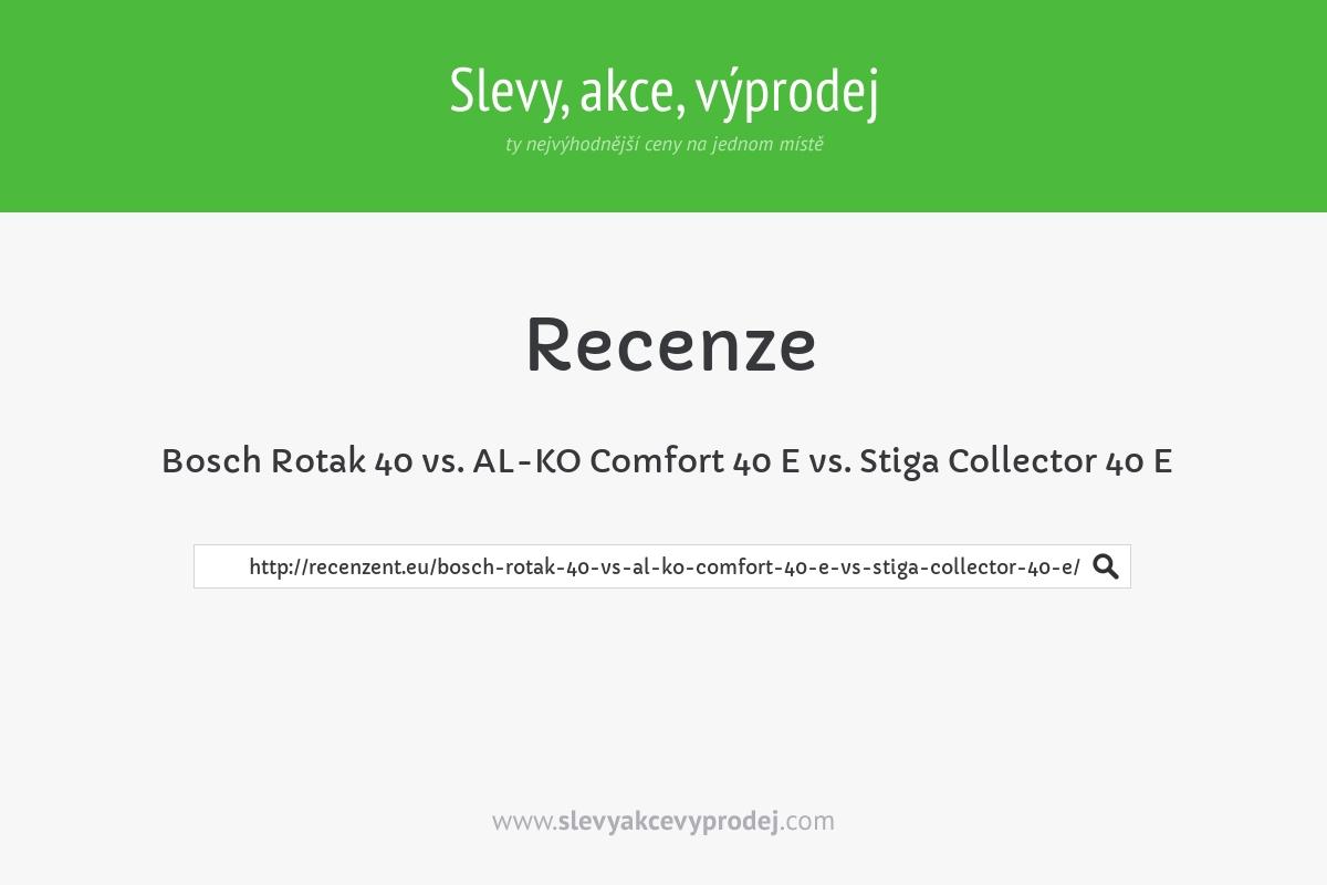 Bosch Rotak 40 vs. AL-KO Comfort 40 E vs. Stiga Collector 40 E