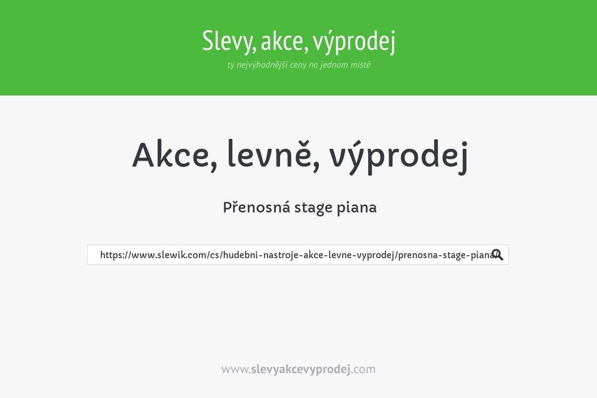 Přenosná stage piana