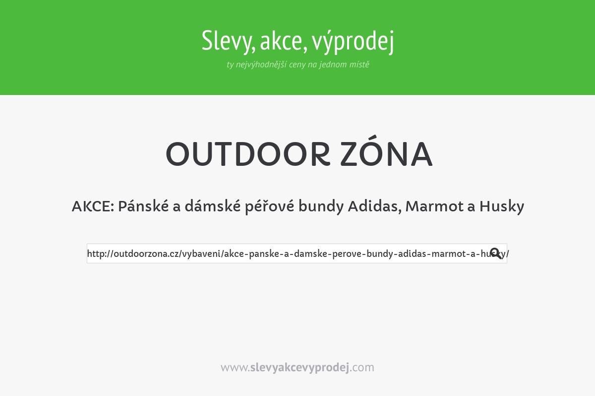AKCE: Pánské a dámské péřové bundy Adidas, Marmot a Husky