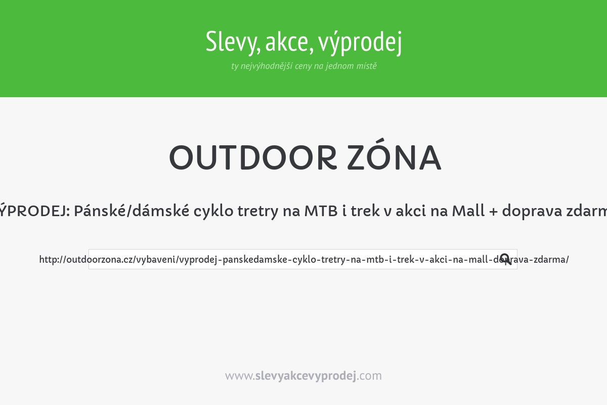VÝPRODEJ: Pánské/dámské cyklo tretry na MTB i trek v akci na Mall + doprava zdarma