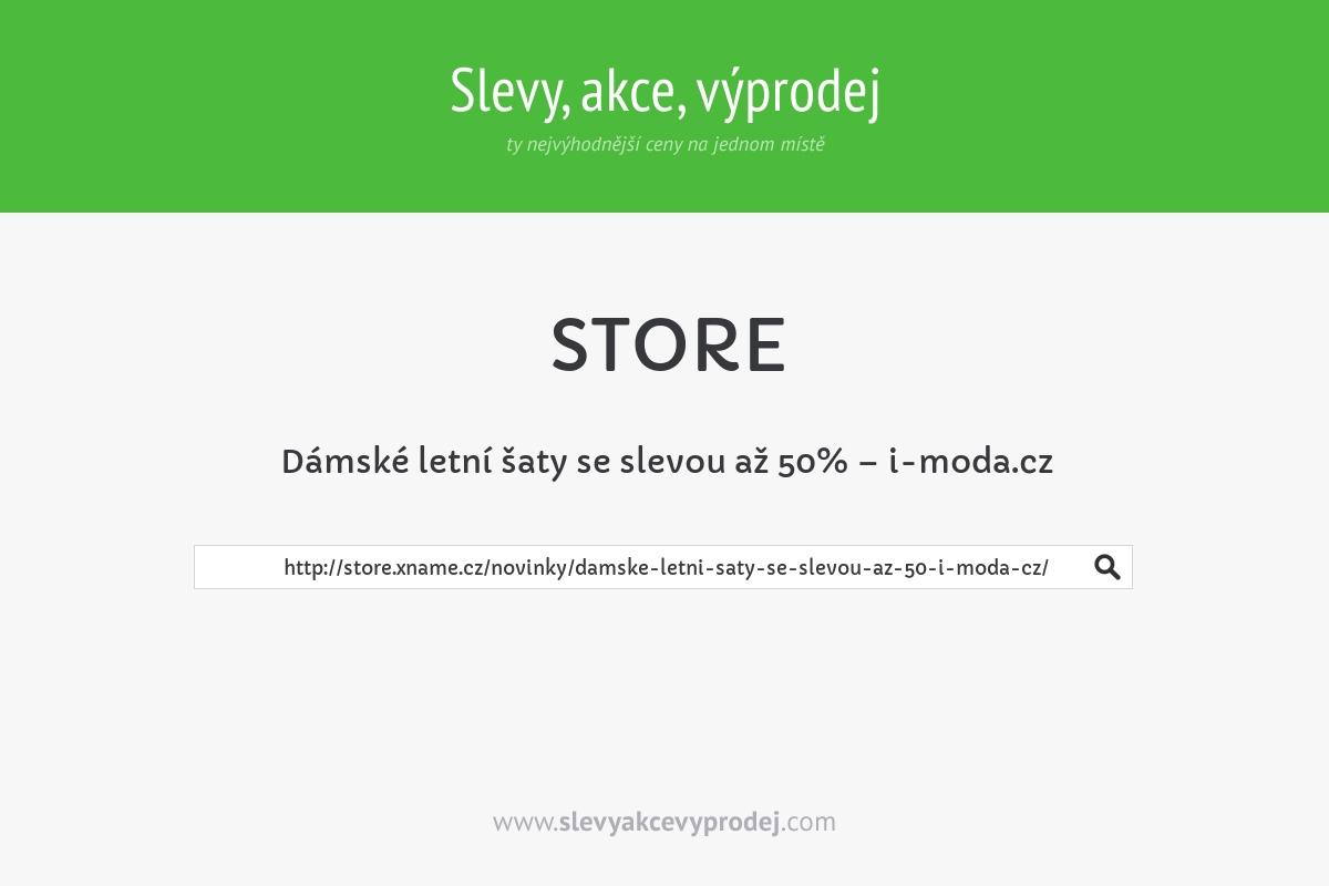 Dámské letní šaty se slevou až 50% – i-moda.cz