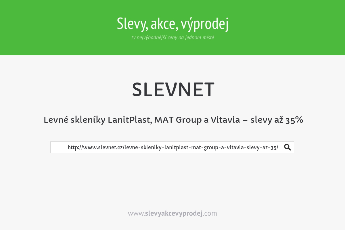 Levné skleníky LanitPlast, MAT Group a Vitavia – slevy až 35%
