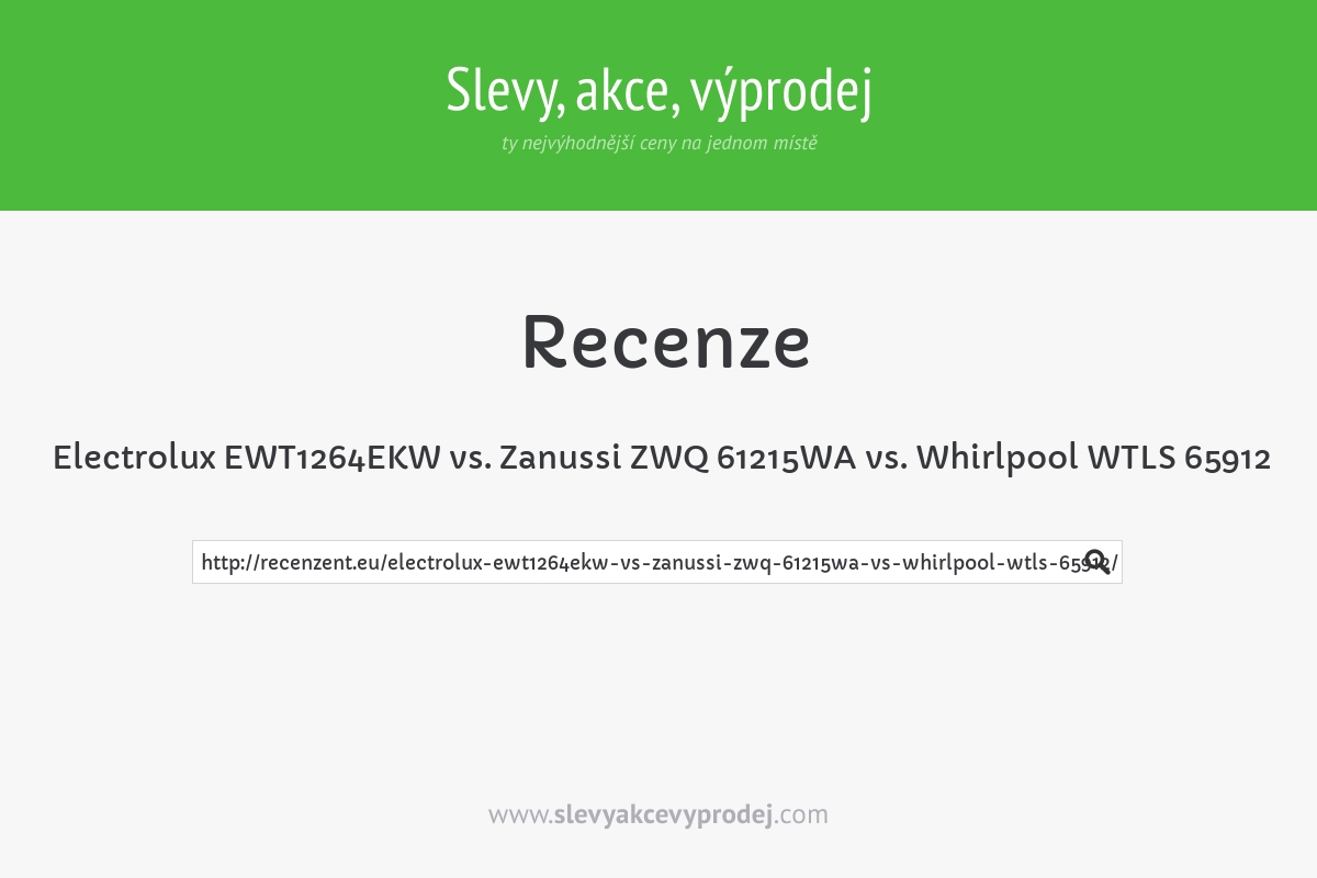 Electrolux EWT1264EKW vs. Zanussi ZWQ 61215WA vs. Whirlpool WTLS 65912