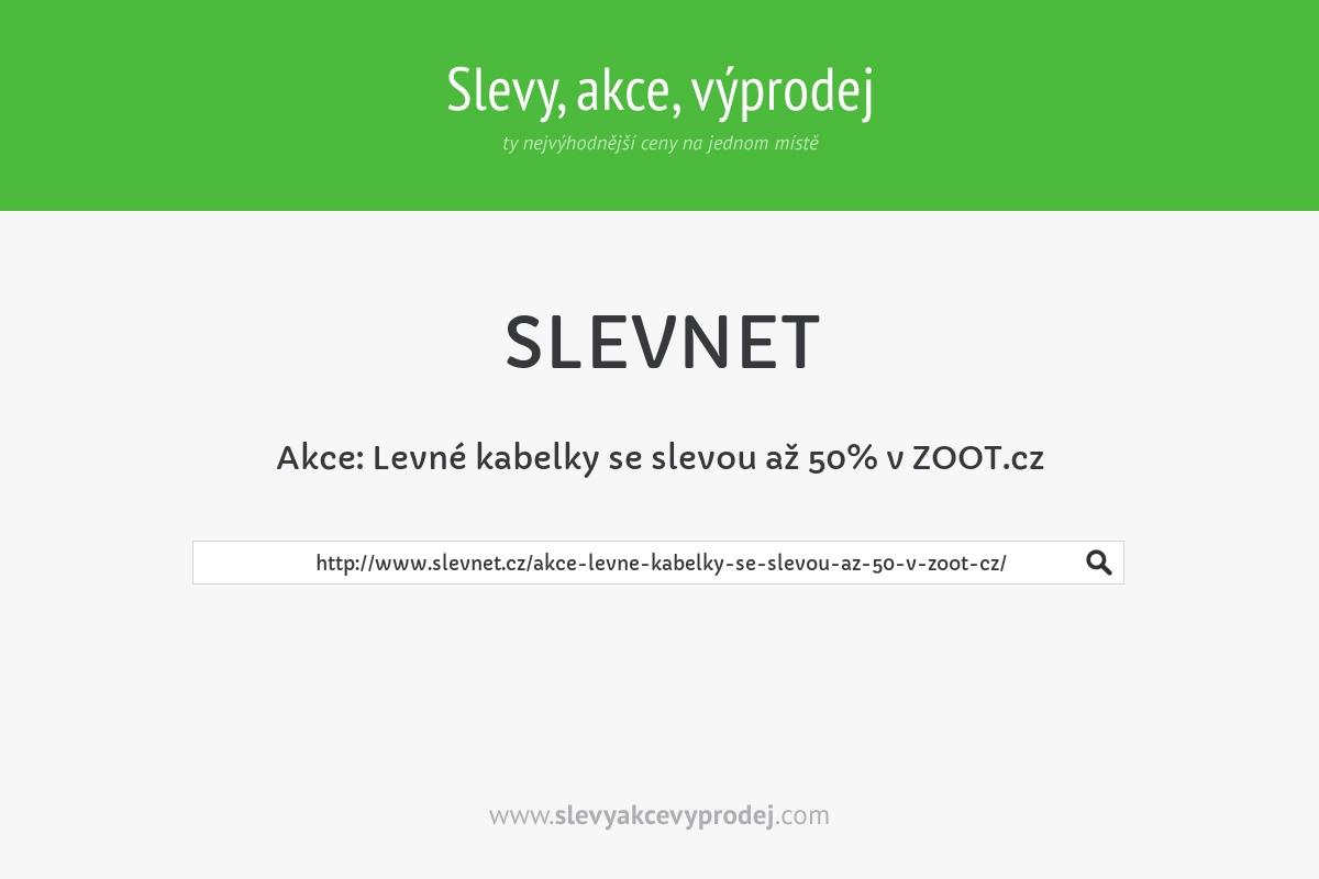 Akce: Levné kabelky se slevou až 50% v ZOOT.cz