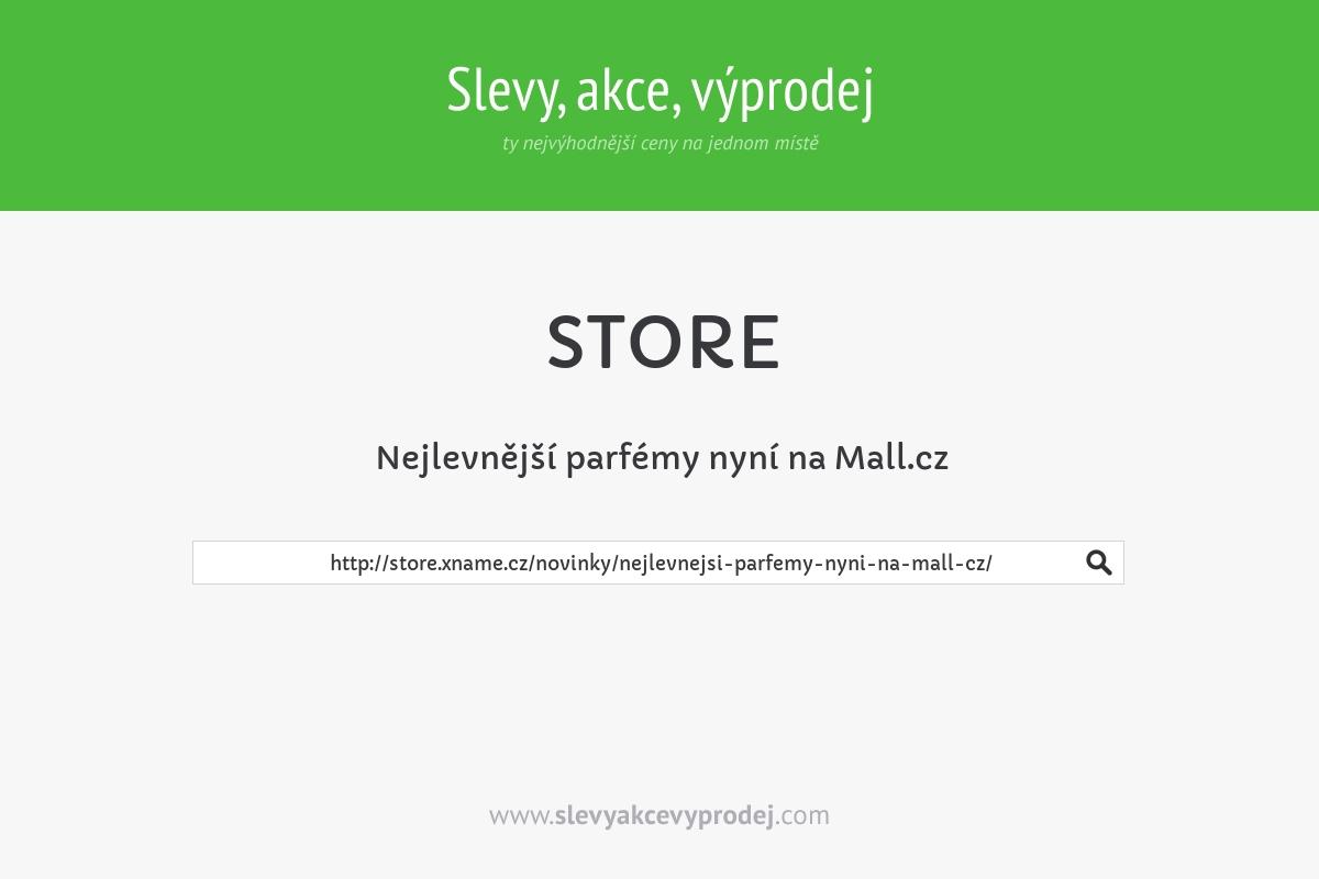 Nejlevnější parfémy nyní na Mall.cz