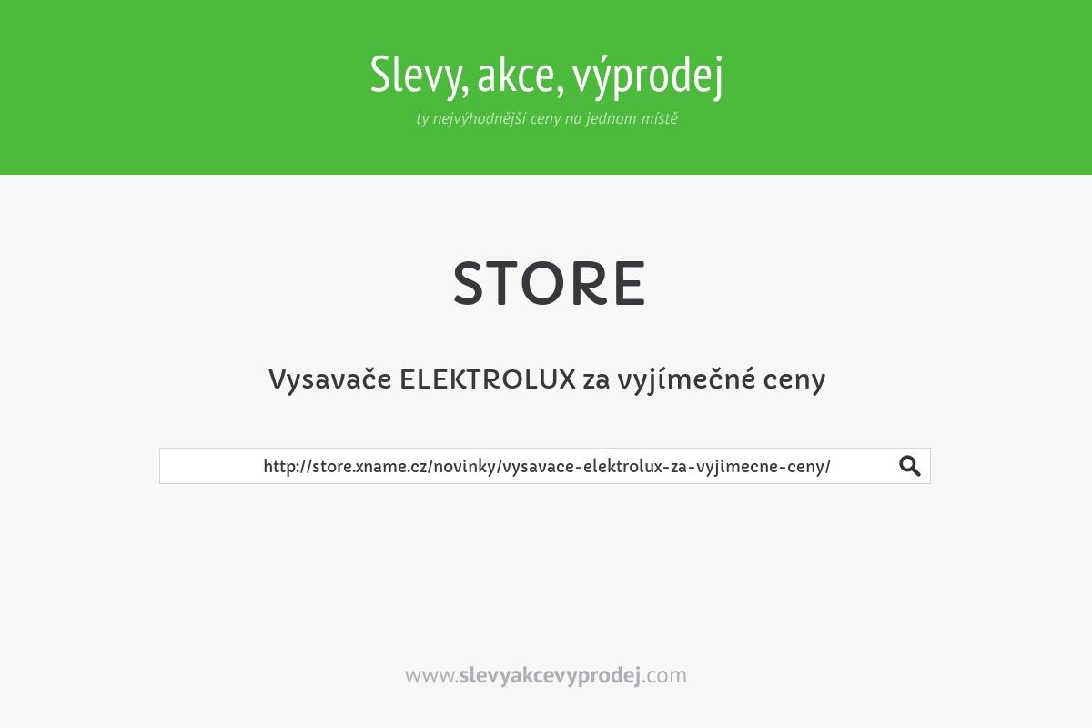 Vysavače ELEKTROLUX za vyjímečné ceny